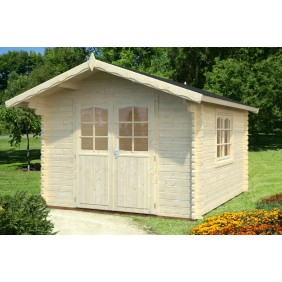 Palmako Gartenhaus Sally 10,2 m² - 44 mm - naturbelassen