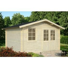 Palmako Gartenhaus Klara 10,4 m² - 28 mm - naturbelassen