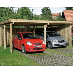 Weka Doppel-Carport Optima Duo