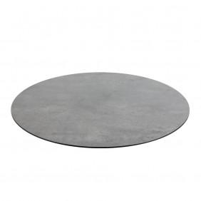 Diamond Garden DiGa Compact Tischplatte 68cm Rund Beton Dunkel mit 20° Fase