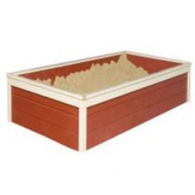 Karibu Sandkasten für Gernegross / Steppkenturm kastanienrot