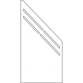 OSMO HPL Kompakt 90x180/90 cm mit Langschlitz