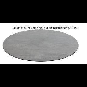 Diamond Garden DiGa Compact Tischplatte 68cm rund Beton hell mit 20° Fase