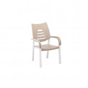 Kettler Happy Dining Chair weiß / sand