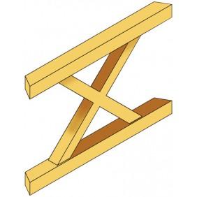 Skan Holz Brüstung Andreaskreuz zu Pavillion Cannes / Orleans