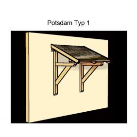 Skanholz Pultdach Vordach Potsdam Typ 1