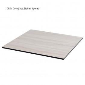 Diamond Garden DiGa Compact Tischplatte 68 cm eckig mit 20° Fase Eiche sägerau