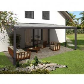 Skan Holz Aluminium Terrassenüberdachung Genua Breite 541 cm anthrazit