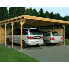 Skanholz Lausitz - Flachdach Carport 554 x 550 + Seitenwand als Zubehör