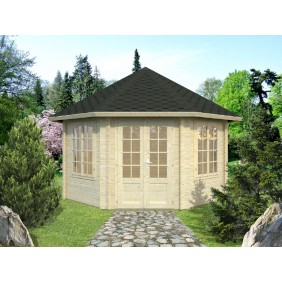 Palmako Pavillon Hanna 14,1 m² - 44 mm - outdoor