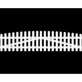 GroJa BasicLine Gartenzauntor Kunststoff 2-flügelig Bogen oben schematische Darstellung
