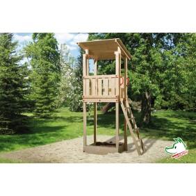 Weka Spielturm + Sandkasten Micky mit Flachdach