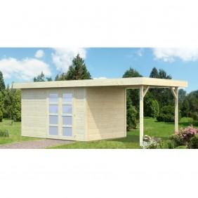 Palmako Gartenhaus Lara 8,4 + 5,9 m² - 28 mm - naturbelassen