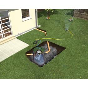 Graf Regenwasser Flachtank Platin Komplettpaket Garten-Jet begehbar