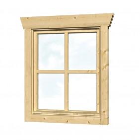 Skan Holz Einzelfenster für 45 mm Blockbohlenhäuser