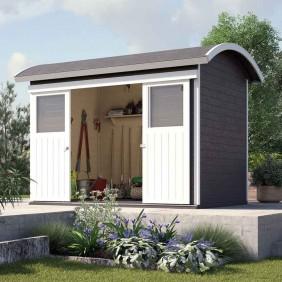 Weka 21 mm Gartenhaus Gerätehaus Ronda anthrazit