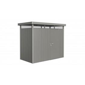 Biohort Gerätehaus HighLine mit Einzeltür-275 x 155 cm (Gr. H 1)-quarzgrau-metallic B-Ware