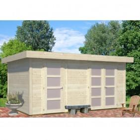 Palmako Gartenhaus Lara 12,7 m² - 28 mm - naturbelassen