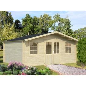 Palmako Gartenhaus Klara 17,0 m² FSC Mix 70 % - 28 mm - outdoor - naturbelassen