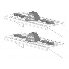 Tepro Hängebord-Set für Gewächshaus