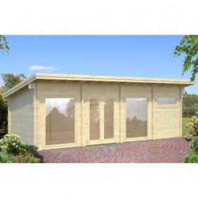 Palmako Gartenhaus Heidi 22,8 m² - 70 mm - naturbelassen