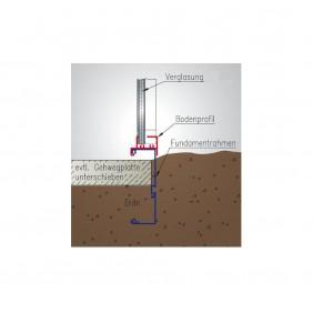 KGT Fundamentrahmen für Gewächshaus Rose Typ II+ Typ III + Typ IV