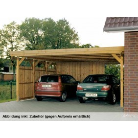 Skan Holz Holstein - Flachdach Doppelcarport 115er - Breite 558 cm Nadelholz