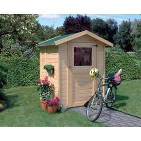 Karibu Eco Gartenhaus Gerätehaus Felin/Merlin 1/2 - 14 mm (Abb. inkl. Zubehör: Dachschindeln)