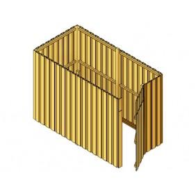 Skan Holz Abstellraum A1 für Carports - Deckelschalung