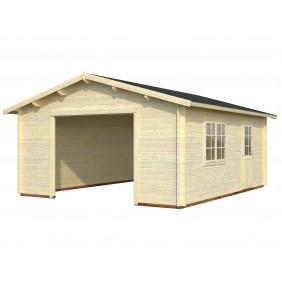 Palmako Garage Roger 23,9 m² - 44 mm - ohne Tor - naturbelassen