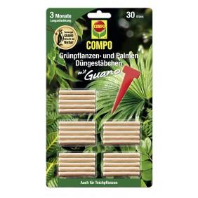 COMPO Grünpflanzen- und Palmen Düngestäbchen mit Guano (30 Stäbchen)