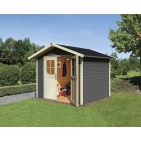 Karibu Classic Gartenhaus Gerätehaus Ungersund 28 mm (Abb. inkl. Zubehör: Fußboden und Dachschindeln)