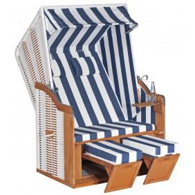 Müsing SunnySmart Strandkorb Rustikal 50 Basic 2-Sitzer weiß Stoff Nr. 1080