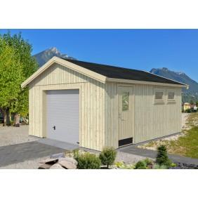 Palmako Nordic+ Gartenhaus/Garage Andre mit Sektionaltor - 21,5 m² - 160 mm