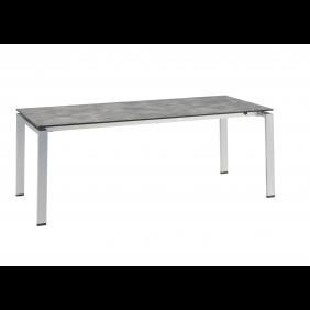 Kettler FLOAT Dining-Ausziehtisch 200/250/300 x 95 cm, Aluminium silber/anthrazit HPL Betondekor anthrazit