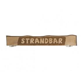 """Weka handgeschnitztes Massivholzschild mit Aufschrift """"Strandbar"""""""