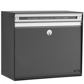 ALLUX SC200 Stahl Briefkasten mit Alu-Front - Anthrazit, Alu Front