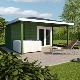 Infraworld Gartenhaus/Poolhaus Living 2