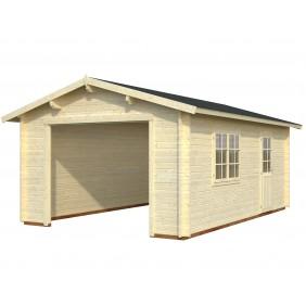 Palmako Garage Roger 19,0 m² - 44 mm - ohne Tor - naturbelassen