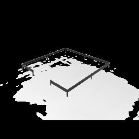 Juliana Stahlfundament schwarz für Gewächshaus Oase - 13,5 m²