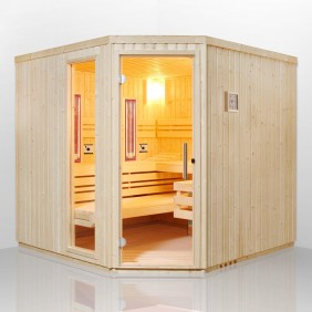 Infraworld Sauna Fortuna - Elementsauna mit Glasfront
