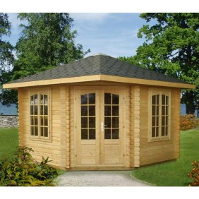 Palmako Pavillon Melanie 9,6 m² - 44 mm - imprägniert - outdoor