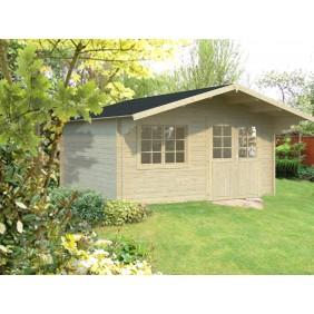 Palmako Gartenhaus Britta 17,5 m² - 40 mm - naturbelassen
