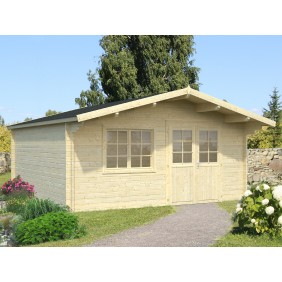 Palmako Gartenhaus Britta 19,7 m² - 40 mm - naturbelassen