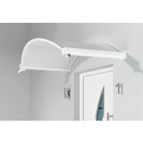 Gutta Ovalbogenvordach OV/B 160 weiß 4mm, weiß opak
