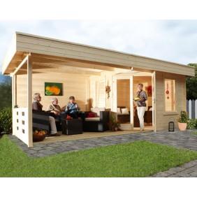 Wolff Finnhaus Terrassenhaus Gartenhaus Nina 28-B mit Terrasse