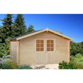 Palmako Gartenhaus Lotta 13,9 m² - 34 mm - naturbelassen