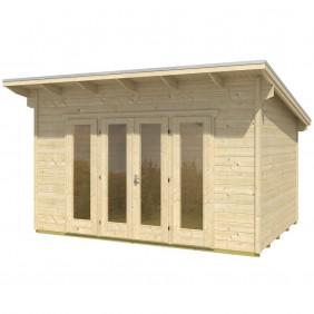 Skan Holz 28 mm Gartenhaus Blockbohlenhaus Ostende 1