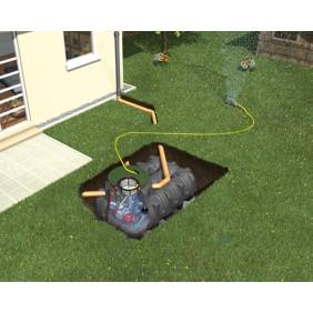 Graf Regenwasser Flachtank Platin Komplettpaket Garten-Komfort begehbar