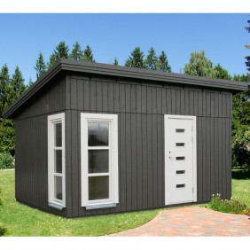 Palmako Nordic-Haus Etta 13,6 m² - 18+70 mm - schwarz